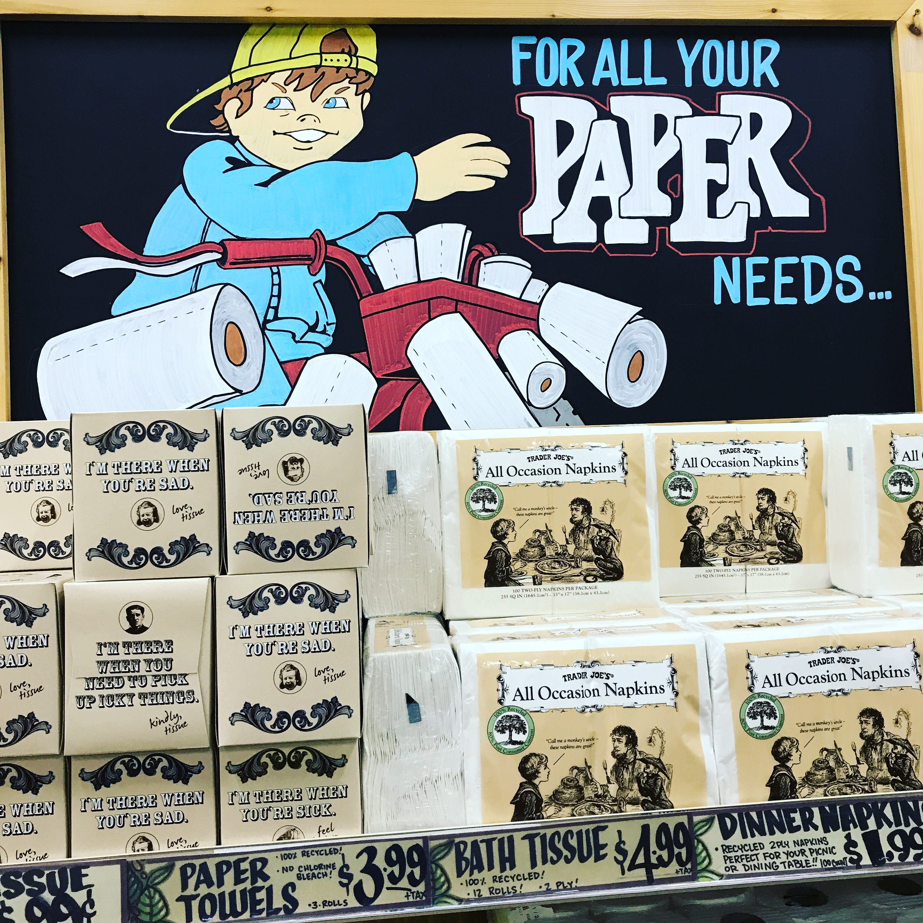 Trader Joe's with that Paperboy reference